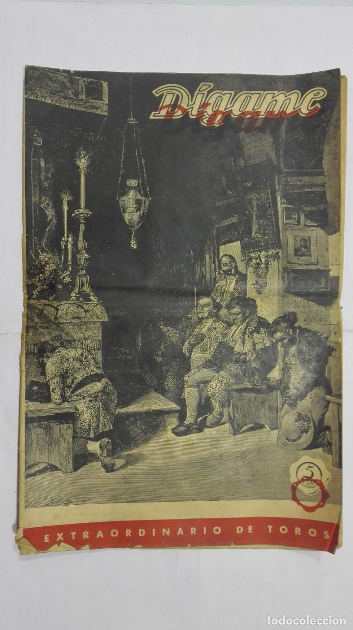PERIODICO SEMANAL DIGAME, EXTRAORDINARIO DE TOROS, MARZO DE 1948 (Coleccionismo - Tauromaquia)