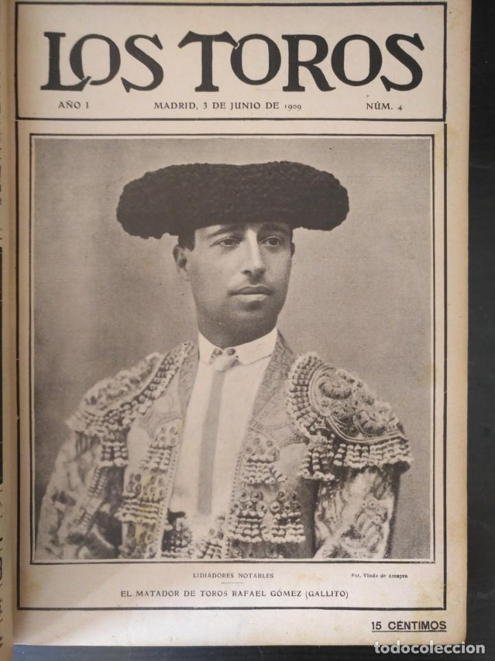 Tauromaquia: REVISTA LOS TOROS 1909-10, 37 NÚMEROS ENCUADERNADOS EN UN VOLUMEN. LEER - Foto 2 - 195361967
