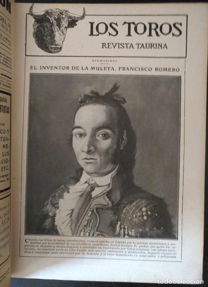 Tauromaquia: REVISTA LOS TOROS 1909-10, 37 NÚMEROS ENCUADERNADOS EN UN VOLUMEN. LEER - Foto 3 - 195361967