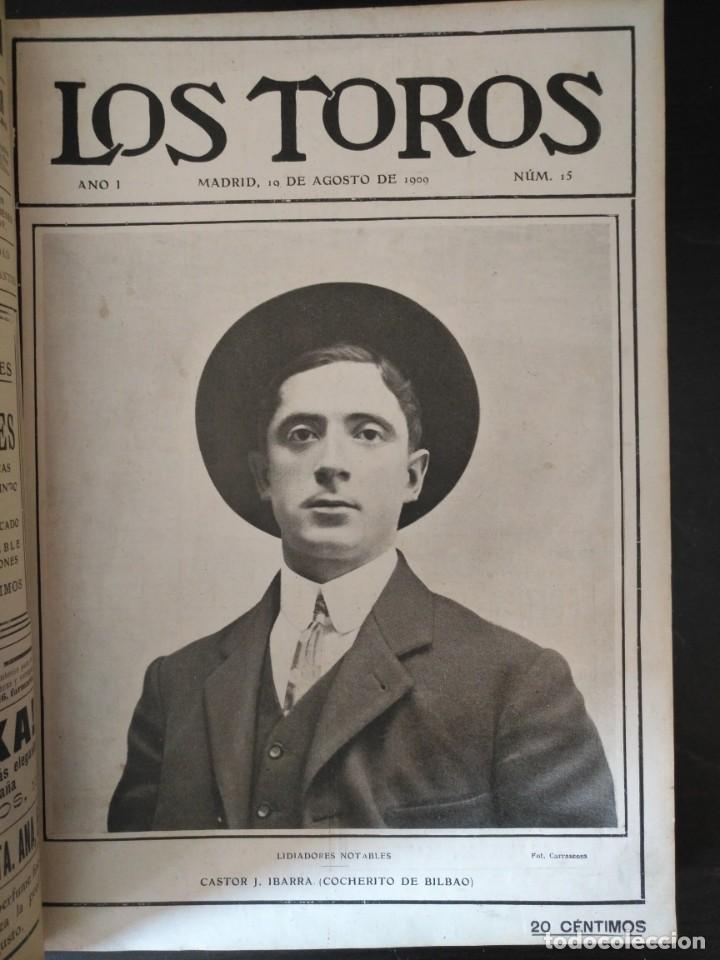 Tauromaquia: REVISTA LOS TOROS 1909-10, 37 NÚMEROS ENCUADERNADOS EN UN VOLUMEN. LEER - Foto 4 - 195361967