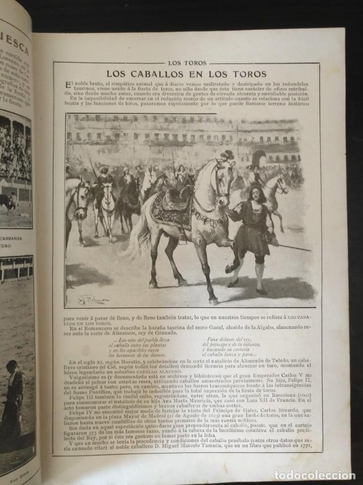Tauromaquia: REVISTA LOS TOROS 1909-10, 37 NÚMEROS ENCUADERNADOS EN UN VOLUMEN. LEER - Foto 5 - 195361967