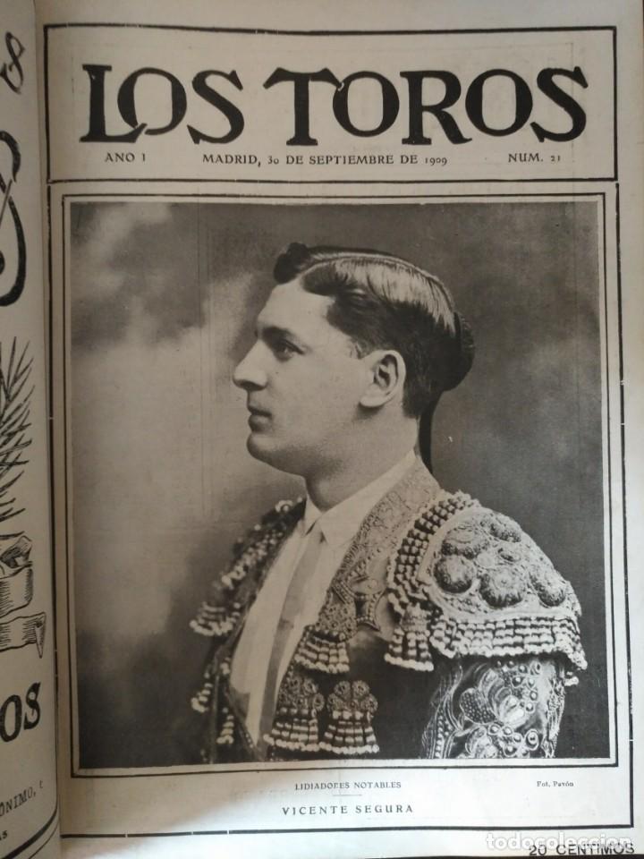 Tauromaquia: REVISTA LOS TOROS 1909-10, 37 NÚMEROS ENCUADERNADOS EN UN VOLUMEN. LEER - Foto 6 - 195361967