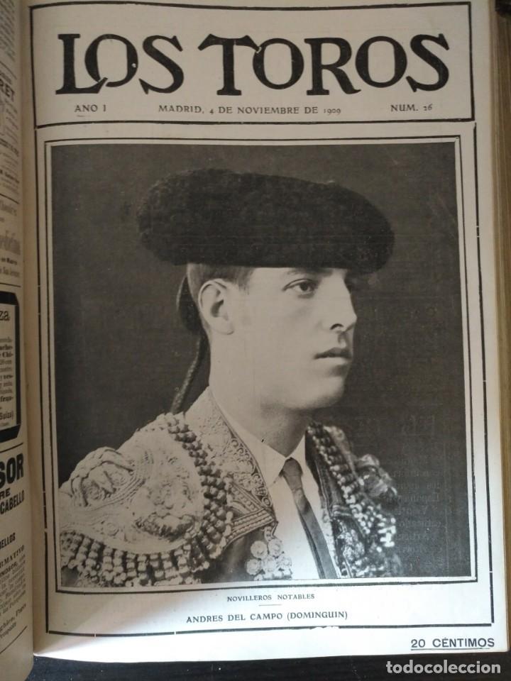 Tauromaquia: REVISTA LOS TOROS 1909-10, 37 NÚMEROS ENCUADERNADOS EN UN VOLUMEN. LEER - Foto 8 - 195361967