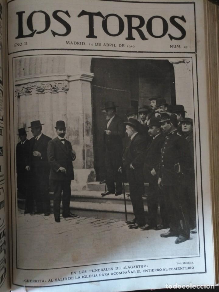 Tauromaquia: REVISTA LOS TOROS 1909-10, 37 NÚMEROS ENCUADERNADOS EN UN VOLUMEN. LEER - Foto 10 - 195361967