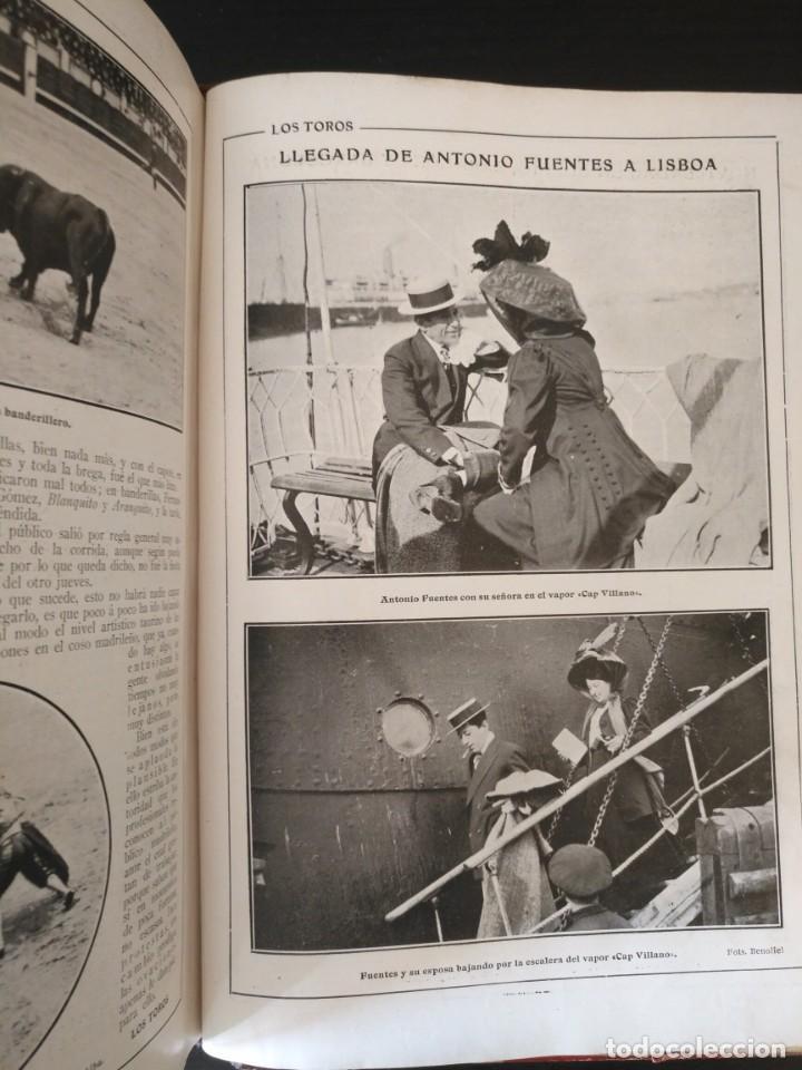Tauromaquia: REVISTA LOS TOROS 1909-10, 37 NÚMEROS ENCUADERNADOS EN UN VOLUMEN. LEER - Foto 11 - 195361967