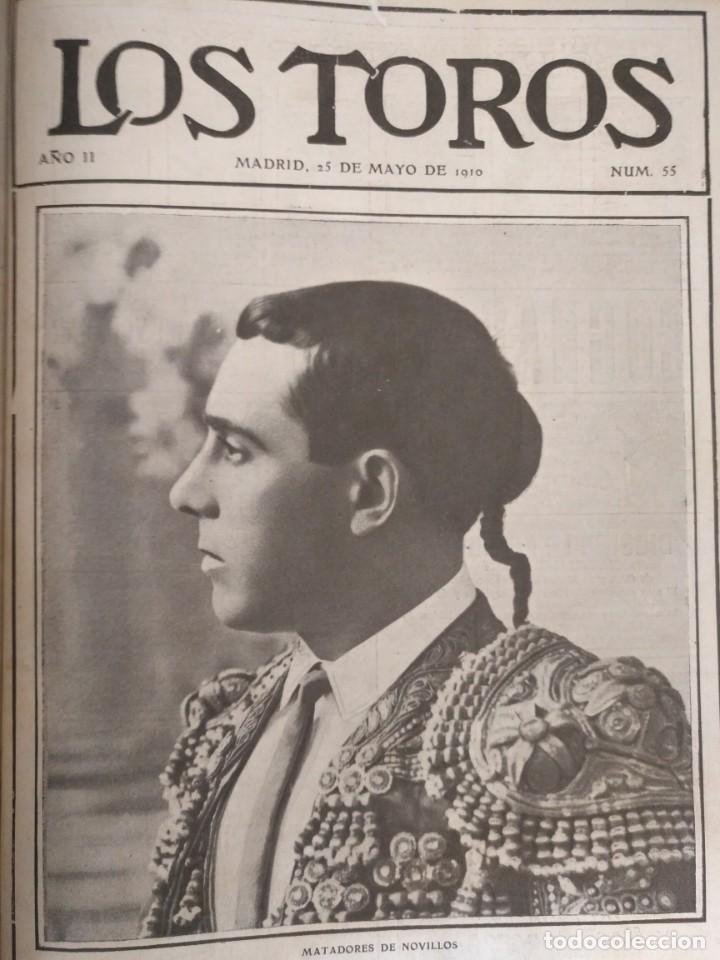 Tauromaquia: REVISTA LOS TOROS 1909-10, 37 NÚMEROS ENCUADERNADOS EN UN VOLUMEN. LEER - Foto 12 - 195361967