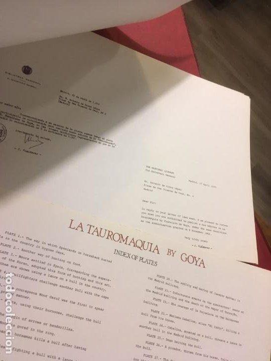 Tauromaquia: La tauromaquia homenaje a Goya dirigido por Antonio de Horna. 1815.1983. 49 x 36 cms. - Foto 3 - 195381705