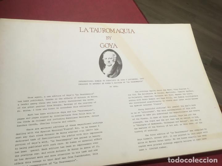 Tauromaquia: La tauromaquia homenaje a Goya dirigido por Antonio de Horna. 1815.1983. 49 x 36 cms. - Foto 4 - 195381705