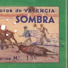 Tauromaquia: ENTRADA A LA PLAZA DE TOROS DE VALENCIA AÑO 1958. Lote 195399683