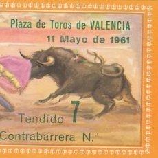 Tauromaquia: ENTRADA A LA PLAZA DE TOROS DE VALENCIA AÑO 1961. Lote 195399772
