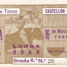 Tauromaquia: ENTRADA A LA PLAZA DE TOROS DE CASTELLON AÑO 1969. Lote 195400348