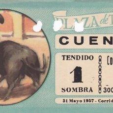 Tauromaquia: ENTRADA A LA PLAZA DE TOROS DE CUENCA AÑO 1957. Lote 195400487