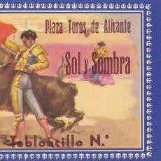 Tauromaquia: ENTRADA A LA PLAZA DE TOROS DE ALICANTE AÑO 1961. Lote 195401018