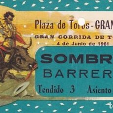 Tauromaquia: ENTRADA A LA PLAZA DE TOROS DE GRANADA AÑO 1961. Lote 195401200