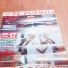 Tauromaquia: CARTEL DE TORO. EL PUERTO. REJONES. PAULO CAETANO. FERMIN BOHORQUEZ. ANDY CARTAGENA. DIEGO VENT BBB. Lote 195449186