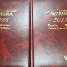 Tauromaquia: LOTE AGENDA TAURINA ESPAÑA MEXICO AMERICA FRANCIA PORTUGAL 2013, 2014, 2015, 2016. EDIC. TEMPLE.. Lote 195548585
