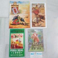Tauromaquia: LOTE 4 PROGRAMAS DE TOROS UBEDA ANTEQUERA Y VALLADOLID AÑOS 90. Lote 195657040