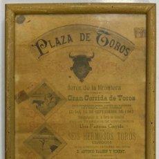 Tauromaquia: CARTEL DE TOROS. PLAZA DE TOROS DE JEREZ DE LA FRONTERA. 1902. MORENITO DE ALGECIRAS. LEER.. Lote 195717107