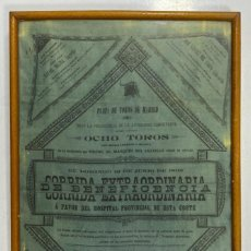 Tauromaquia: CARTEL DE TOROS DE SEDA. PLAZA DE TOROS DE MADRID. 1892. CORRIDA EXTRAORDINARIA. LEER TOREROS.. Lote 195720751