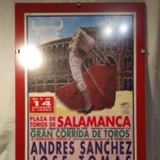 Tauromaquia: CARTEL TAURINO, FERIA DE SEPTIEMBRE, SALAMANCA 1999, ENMARCADO, AUTÉNTICO, VER. Lote 195790570