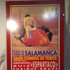 Tauromaquia: CARTEL TAURINO, FERIA DE SEPTIEMBRE, SALAMANCA 1999, ENMARCADO, AUTÉNTICO, VER. Lote 195791142