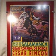 Tauromaquia: CARTEL TAURINO, FERIA DE SEPTIEMBRE, SALAMANCA 1999, ENMARCADO Y AUTÉNTICO, VER. Lote 195791566