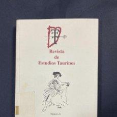 Tauromaquia: REVISTA DE ESTUDIOS TAURINOS.IGNACIO SANCHEZ MEJIAS. Nº 11.SEVILLA, 2000. PAGS: 313. REAL MAESTRANZA. Lote 196148871