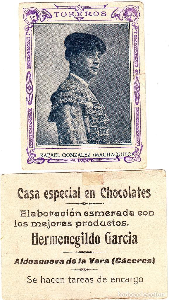CROMO DE TOREROS RAFAEL GONZÁLEZ MACHAQUITO (Coleccionismo - Tauromaquia)