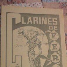 Tauromaquia: CLARINES DE FERIA.CLUB TAUTINO EMERITENSE.MERIDA 1968. Lote 197043536