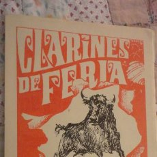 Tauromaquia: CLARINES DE FERIA.CLUB TAURINO EMERITENSE.MERIDA 1968.. Lote 197043768