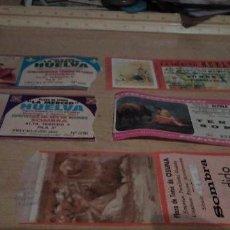 Tauromaquia: LOTE DE 5 ENTRADAS DE CORRIDAS DE TOROS EN HUELVA Y LA PROVINCIA DE SEVILLA. Lote 197347372