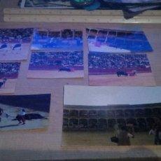 Tauromaquia: LOTE DE 8 FOTOGRAFIAS DE DISTINTOS LANCES DEL TOREO. Lote 197348721