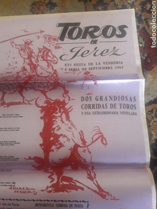 Tauromaquia: Cartel de toros de seda, Jerez 1963 - Foto 2 - 199214165