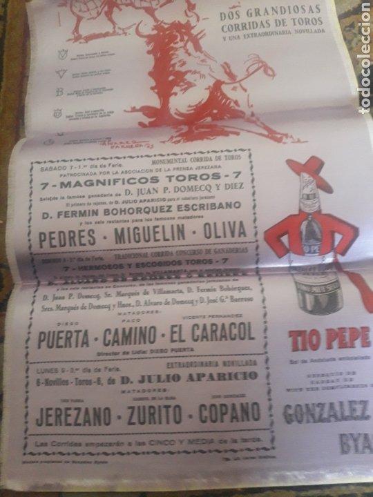 Tauromaquia: Cartel de toros de seda, Jerez 1963 - Foto 3 - 199214165