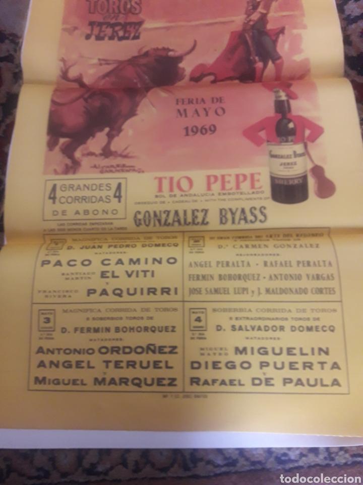 Tauromaquia: Cartel de toros de seda, Jerez 1969 - Foto 3 - 199214495