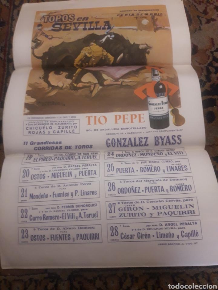 Tauromaquia: Cartel de toros de seda, Sevilla, 1968 - Foto 4 - 199214918
