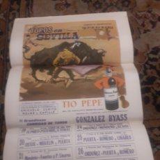 Tauromaquia: CARTEL DE TOROS DE SEDA, SEVILLA, 1968. Lote 199214918