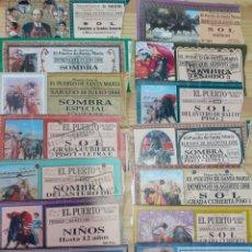 Tauromaquia: LOTE DE 14 ENTRADAS DE LA PLAZA DEL PUERTO DEL AÑO 1998. Lote 199236537