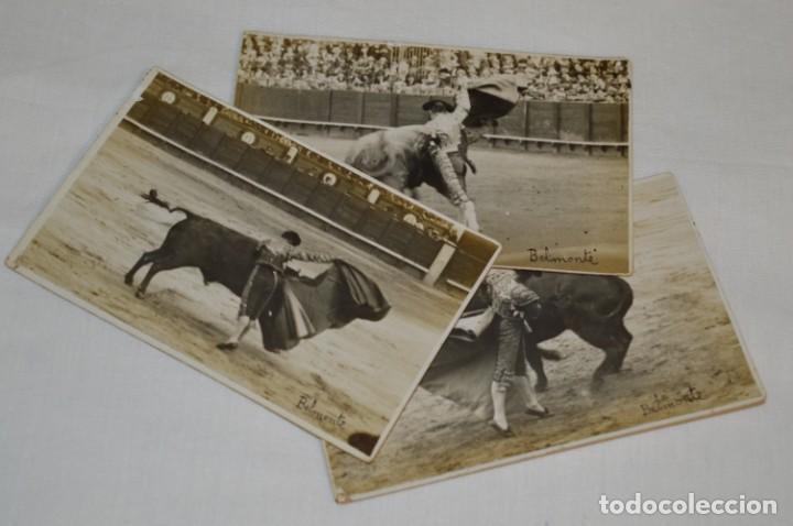 BELMONTE - MADRID 24/05/1920, 3 FOTOGRAFIAS TARJETA P. - FOTÓGRAFO BALDOMERO ¡ORIGINALES, MIRA! (Coleccionismo - Tauromaquia)