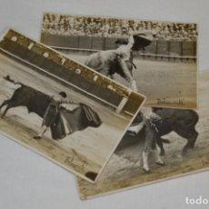 Tauromaquia: BELMONTE - MADRID 24/05/1920, 3 FOTOGRAFIAS TARJETA P. - FOTÓGRAFO BALDOMERO ¡ORIGINALES, MIRA!. Lote 199653573