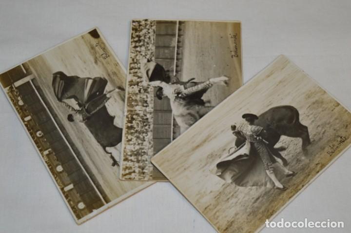 Tauromaquia: BELMONTE - Madrid 24/05/1920, 3 FOTOGRAFIAS TARJETA P. - Fotógrafo BALDOMERO ¡Originales, MIRA! - Foto 2 - 199653573