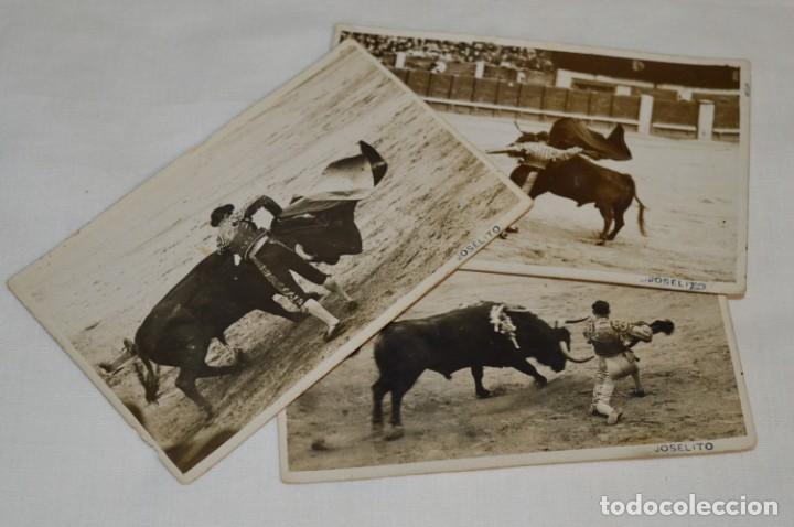 JOSELITO - PRINCIPIOS 1900 / 3 FOTOGRAFIAS TARJETA P. - FOTÓGRAFO RODERO / MADRID ¡ORIGINALES, MIRA! (Coleccionismo - Tauromaquia)