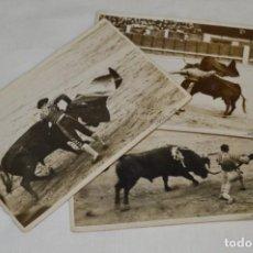 Tauromaquia: JOSELITO - PRINCIPIOS 1900 / 3 FOTOGRAFIAS TARJETA P. - FOTÓGRAFO RODERO / MADRID ¡ORIGINALES, MIRA!. Lote 199662686