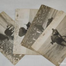 Tauromaquia: PRINCIPIOS/MEDIADOS 1900 / 4 FOTOGRAFÍAS TARJETA POSTAL / SIN DATOS ¡ORIGINALES, MIRA!. Lote 199664585