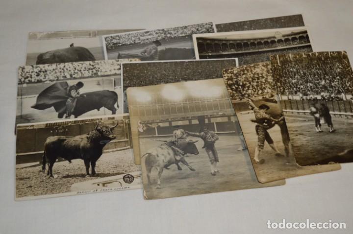 PRINCIPIOS/MEDIADOS 1900 / 11 FOTOGRAFÍAS TARJETA POSTAL / SIN DATOS / ORIGINALES Y VARIADAS ¡MIRA! (Coleccionismo - Tauromaquia)