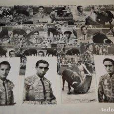 Tauromaquia: SIGLO PASADO - EN B/N - 17 TARJETAS POSTALES / ORIGINALES / TOREOS DE LA ÉPOCA Y VARIADOS ¡MIRA!. Lote 199668060