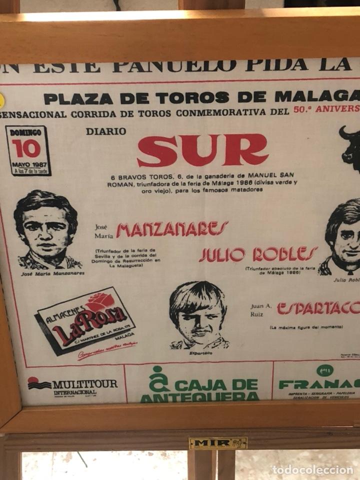 Tauromaquia: Bonito pañuelo enmarcado, corrida 1987 - Foto 3 - 199800957