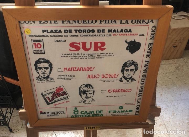 BONITO PAÑUELO ENMARCADO, CORRIDA 1987 (Coleccionismo - Tauromaquia)