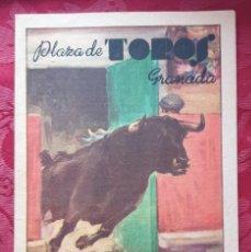 Tauromaquia: CARTEL PEQUEÑO- PLAZA DE TOROS GRANADA- CORPUS 1949. Lote 202111293