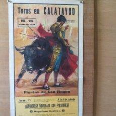 Tauromaquia: CARTEL DE TOROS CALATAYUD. Lote 202949391